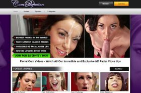 Fine porn site for facial lovers.